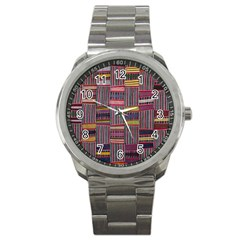 Strip Woven Cloth Color Sport Metal Watch by Jojostore