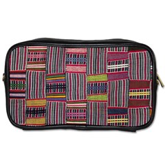 Strip Woven Cloth Color Toiletries Bags 2 Side by Jojostore