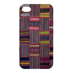 Strip Woven Cloth Color Apple Iphone 4/4s Hardshell Case by Jojostore