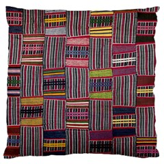 Strip Woven Cloth Color Large Cushion Case (two Sides) by Jojostore