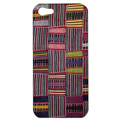 Strip Woven Cloth Color Apple Iphone 5 Hardshell Case by Jojostore