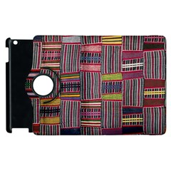 Strip Woven Cloth Color Apple Ipad 2 Flip 360 Case by Jojostore