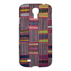 Strip Woven Cloth Color Samsung Galaxy S4 I9500/i9505 Hardshell Case by Jojostore
