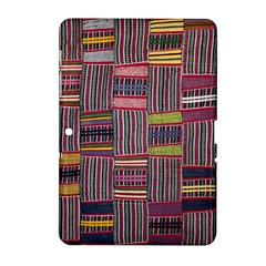 Strip Woven Cloth Color Samsung Galaxy Tab 2 (10 1 ) P5100 Hardshell Case  by Jojostore