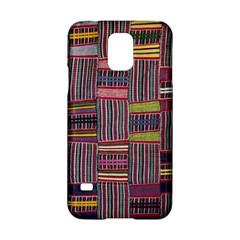 Strip Woven Cloth Color Samsung Galaxy S5 Hardshell Case  by Jojostore