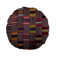 Strip Woven Cloth Color Standard 15  Premium Flano Round Cushions by Jojostore