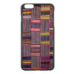 Strip Woven Cloth Color Apple Iphone 6 Plus/6s Plus Black Enamel Case by Jojostore