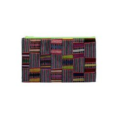 Strip Woven Cloth Color Cosmetic Bag (xs) by Jojostore