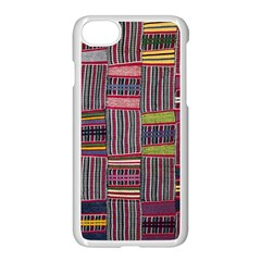 Strip Woven Cloth Color Apple Iphone 7 Seamless Case (white) by Jojostore
