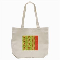 Organic Geometric Design Love Flower Tote Bag (cream)