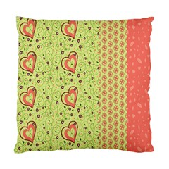 Organic Geometric Design Love Flower Standard Cushion Case (one Side) by Jojostore
