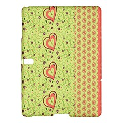 Organic Geometric Design Love Flower Samsung Galaxy Tab S (10 5 ) Hardshell Case  by Jojostore