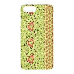 Organic Geometric Design Love Flower Apple Iphone 7 Plus Hardshell Case by Jojostore