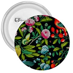 Tropical And Tropical Leaves Bird 3  Buttons by Jojostore