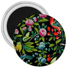 Tropical And Tropical Leaves Bird 3  Magnets by Jojostore