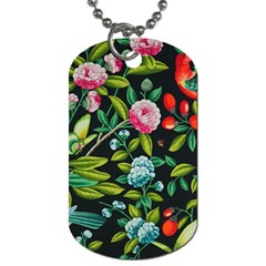 Tropical And Tropical Leaves Bird Dog Tag (two Sides) by Jojostore