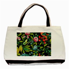 Tropical And Tropical Leaves Bird Basic Tote Bag (two Sides) by Jojostore