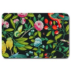 Tropical And Tropical Leaves Bird Large Doormat  by Jojostore