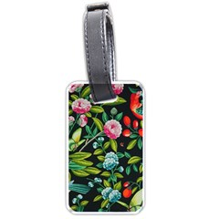 Tropical And Tropical Leaves Bird Luggage Tags (one Side)  by Jojostore