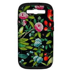Tropical And Tropical Leaves Bird Samsung Galaxy S Iii Hardshell Case (pc+silicone) by Jojostore