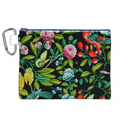 Tropical And Tropical Leaves Bird Canvas Cosmetic Bag (XL) by Jojostore