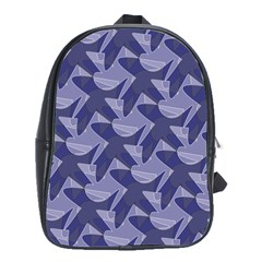 Incid Mono Geometric Shapes Project Blue School Bags(large)  by Jojostore