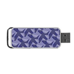 Incid Mono Geometric Shapes Project Blue Portable Usb Flash (one Side) by Jojostore