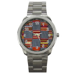 Strip Woven Cloth Sport Metal Watch by Jojostore