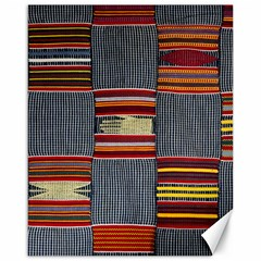 Strip Woven Cloth Canvas 16  X 20   by Jojostore