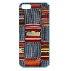 Strip Woven Cloth Apple Seamless Iphone 5 Case (color) by Jojostore