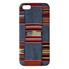 Strip Woven Cloth Apple Iphone 5 Premium Hardshell Case by Jojostore