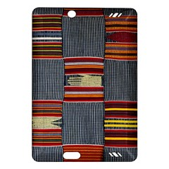 Strip Woven Cloth Amazon Kindle Fire Hd (2013) Hardshell Case by Jojostore