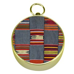 Strip Woven Cloth Gold Compasses by Jojostore