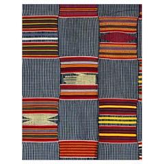 Strip Woven Cloth Drawstring Bag (large) by Jojostore