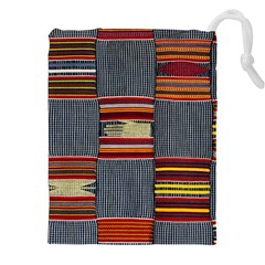 Strip Woven Cloth Drawstring Pouches (xxl) by Jojostore