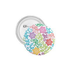 Texture Flowers Floral Seamless 1 75  Buttons by Jojostore