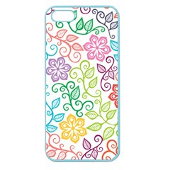 Texture Flowers Floral Seamless Apple Seamless Iphone 5 Case (color) by Jojostore