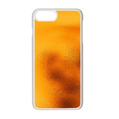 Blurred Glass Effect Apple Iphone 7 Plus White Seamless Case by Amaryn4rt
