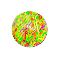 Cheerful Phantasmagoric Pattern Magnet 3  (round) by Amaryn4rt