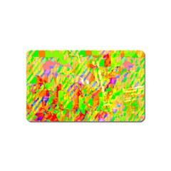 Cheerful Phantasmagoric Pattern Magnet (Name Card) by Amaryn4rt