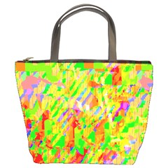 Cheerful Phantasmagoric Pattern Bucket Bags by Amaryn4rt