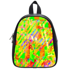Cheerful Phantasmagoric Pattern School Bags (small)  by Amaryn4rt