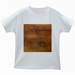 Circuit Board Kids White T Shirts by Amaryn4rt