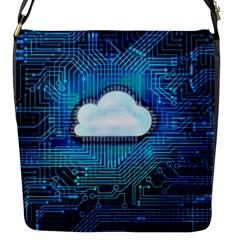 Circuit Computer Chip Cloud Security Flap Messenger Bag (s)