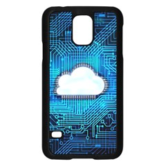 Circuit Computer Chip Cloud Security Samsung Galaxy S5 Case (black) by Amaryn4rt