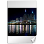Cleveland Building City By Night Canvas 12  x 18   18 x12 Canvas - 1