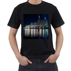 Cleveland Building City By Night Men s T Shirt (black)