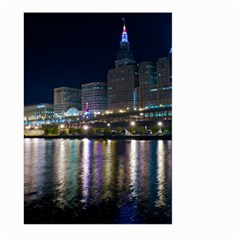 Cleveland Building City By Night Large Garden Flag (two Sides) by Amaryn4rt