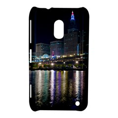Cleveland Building City By Night Nokia Lumia 620
