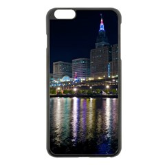 Cleveland Building City By Night Apple Iphone 6 Plus/6s Plus Black Enamel Case by Amaryn4rt